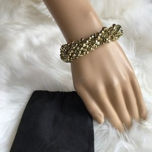 5/$25 J. Crew Gold Bead Twisted Stretch Bracelet